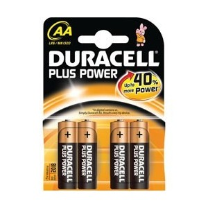 4x Pile AA (R6) Duracell