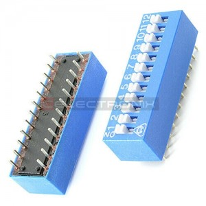 Dip switch 12 positions...