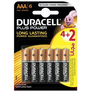 4x Piles Duracell AA Plus...